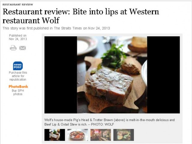Wolf – Straits Times Review